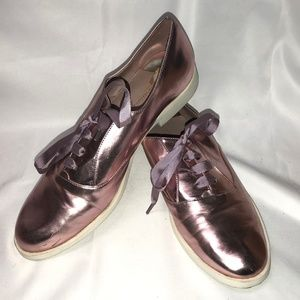 Pink Metallic Margot Christian Siriano Oxfords 9